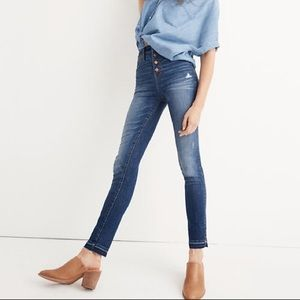 """Madewell 10"""" High Rise Skinny Jeans w/ Button Fly"""